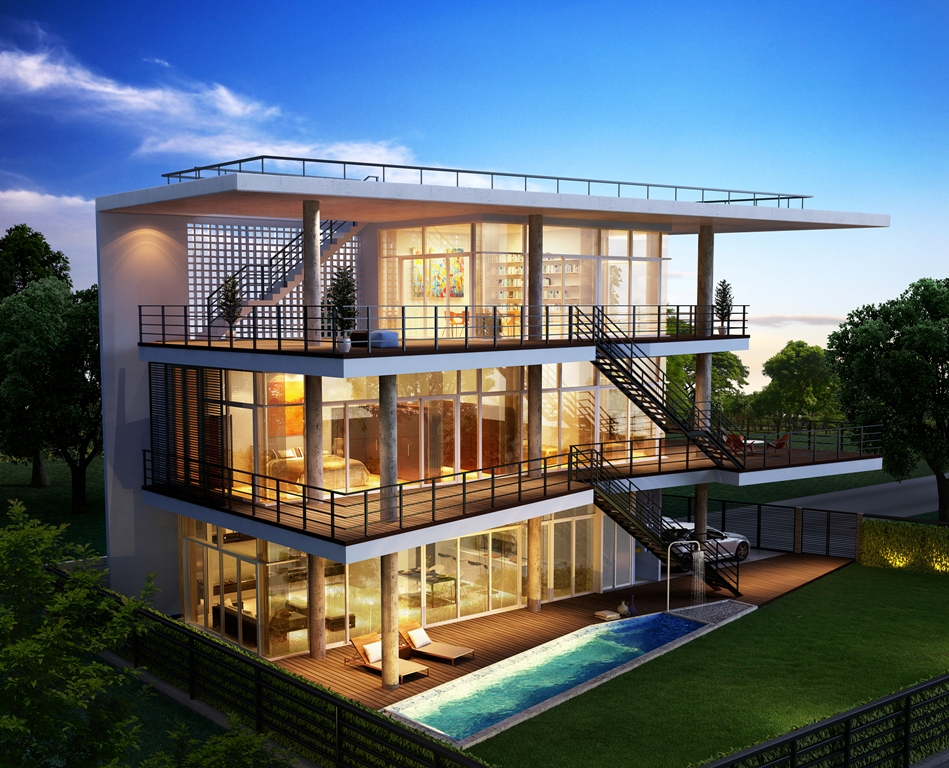 Client Was Looking For A Bangkok Architect To Design Their Modern House In Hua Hin Thailand Architects Awarded The Project Thailand Architects